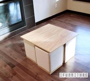 ifurniture Warehouse Sale -- Coffee table with 4 stools