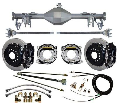 "CURRIE 05-13 MUSTANG REAR END & WILWOOD 13"" DISC BRAKES,LINES,E- CABLES,AXLES,++"