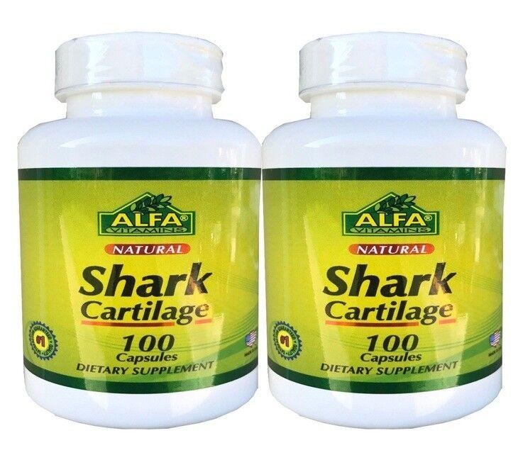 2  Natural Shark Cartilage 1500 mg CARTILAGO DE TIBURON Repair Joint Cartilage
