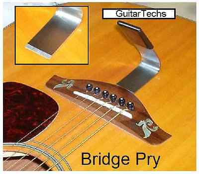 GuitarTechs BRIDGE PRY for Acoustic Guitar - Lifter Removal Luthier Tool