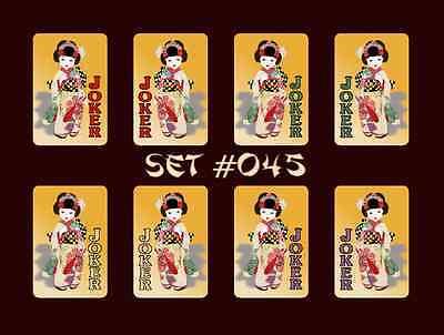 Mah Jongg Jong Mahjong Joker Stickers Geisha Girl - Set #045 ** Free Shipping **](Joker Girlfriend)