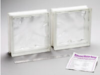 Glass blocks - Large - 24 x24 x 8 cm - 124 blocks in total - unused as new