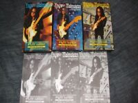 Yngwie Malmsteen Complete set of 3 Play Loud VHS videos and Tab booklets.