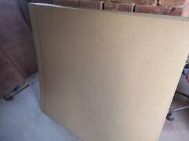 Hardboard sheets