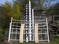 King Size Bed ~ Next 'Hamilton' white powder coated steel