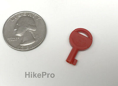 Usa Non-metallic Covert Evasion Tactical Hide Out Universal Handcuff Key - Red