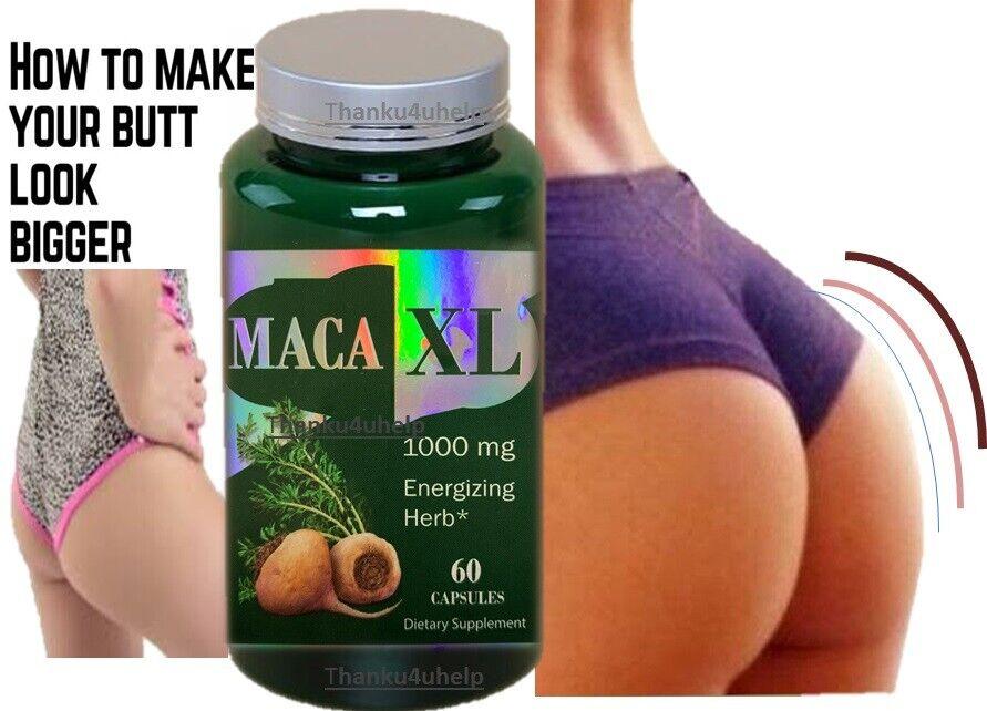 Maca Capsules Shape Buttocks Bigger Butt Booty Shaper SUPER MACAXL ENERGIZING 60 2