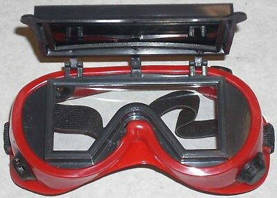 10 Red Welding Safety Goggles Flip Up 2x4 14 Shade 5