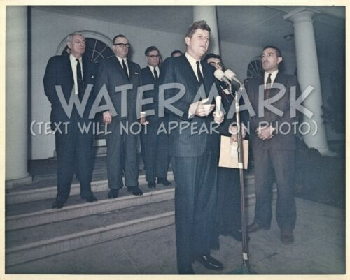 "John F. Kennedy 8x10"" Official White House Photo w/ LBJ & American Indians NCAI"