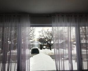 Rideau voilage grandes fenêtres / curtains for big windows