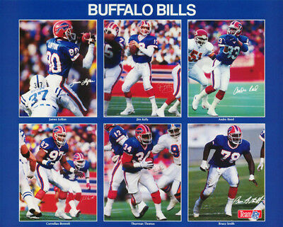 SMALL POSTER:NFL FOOTBALL:   BUFFALO BILLS COLLAGE - FREE SHIP #6243  RP69 - Bills Nfl