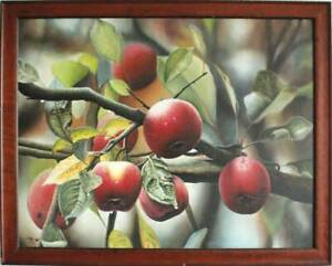 LARGE ORIGINAL PAINTING ON CANVAS. NATURE. APPLE ORCHARD.
