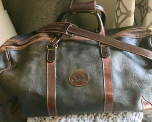 Roots Leather Duffel Bag