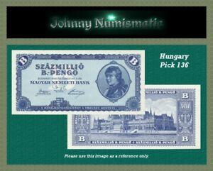 Hungary 100 millio B.-pengo 1946 UNC Pick 136