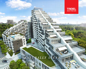 Scala Condos by Tridel at Bayview Village community, ravine view