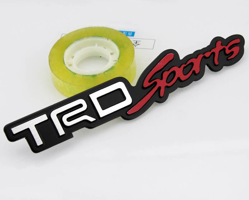 Car Performance Alu Badge Emblem Fenders Stickers Decals For Large TRD Sports