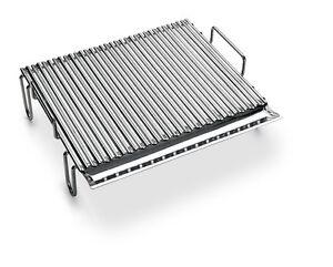 Graticola griglia bst inox a v per barbecue o camino ebay for Griglia per barbecue bricoman
