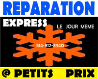 REPARATION RÉFRIGÉRATEUR D'APPAREIL ÉLECTROMÉNAGERS 514-812-8940