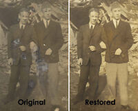 Photo restoration, manipulation & touch ups