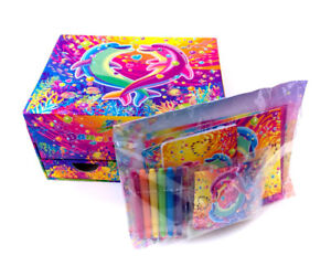 Vintage Lisa Frank Dolphin Stationary Case Jewelry Box Unused