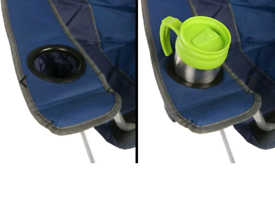 Heavy Duty Padded Folding Camping Directors Chair with Cup Holder