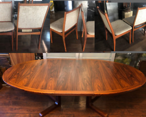 REFINISHED MCM Teak Walnut Rosewood Dining Coffee Tables Chairs