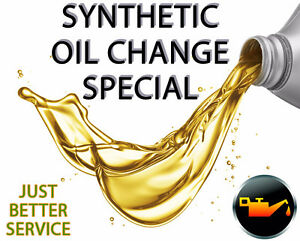 SYNTHETIC OIL CHANGES - SPECIAL - $64.99