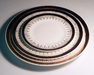 Set of 3 China Plates by Sovereign Pottery, Hamilton