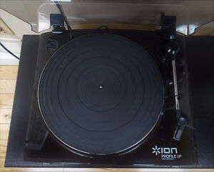 USB connectable record deck turntable