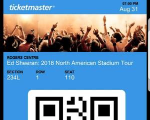 Ed Sheeran Concert Ticket!!