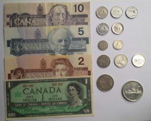 Lot de Pièces de Monnaie en Argent Canadienne