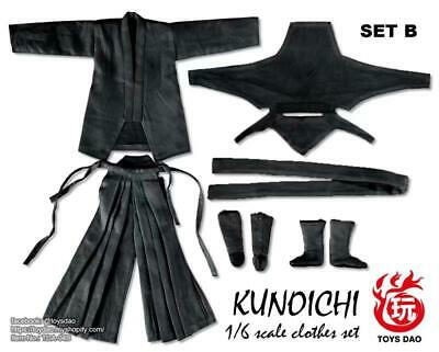 Female Ninja Suit (TOYSDAO 1/6 Female Ninja Clothes suit Black For 12