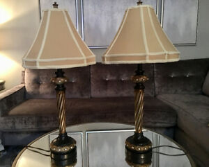Pair of two table lamps