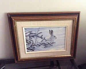 4 solid wood framed animal prints   8.00 each or all 4 for 20.00 Kingston Kingston Area image 2