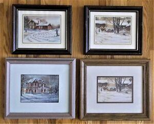 13 framed Tricia Romance Prints