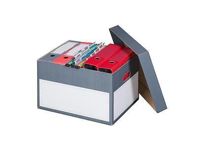 10x Archivbox Archivschachteln mit Deckel und Tragegriffen 414 x 331 x 266 mm