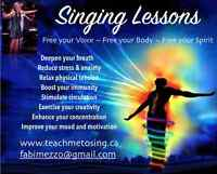 Singing Lessons for Mind, Body and Spirit