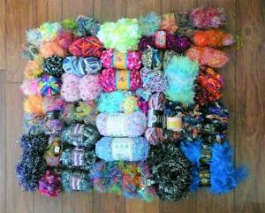 LARGE LOT Mostly Fun Fashion Fur YARN Reasonable Offers Excepted
