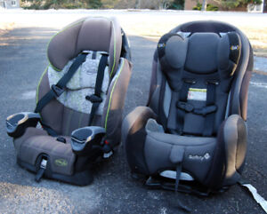 Set of two child car seats (Evenflo and Safety 1st)