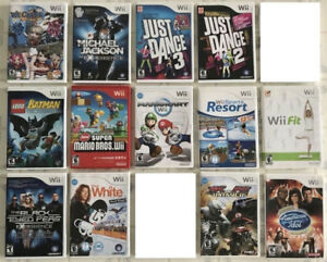 Wii Games :  Mario Kart, Smash Bros, Mario All-Star, Kirby ...