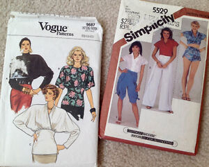Vintage 'Vogue' & 'Simplicity' Sewing Patterns