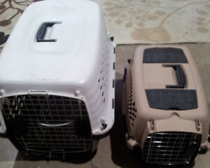 2 Pet carriers - one small, one larger