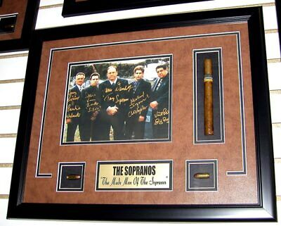 Sopranos Cast Graveyard Photo Autographed ShadowBox