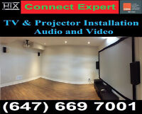 Projector Installation☆TV Wall mounting Service☆TV Wall Mounting