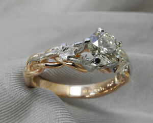 Custom - Rose Gold and Platinum Engagement Ring (.52 ct stone)