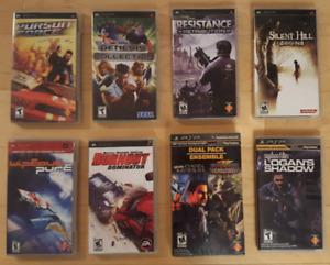 (Négociable) 9 Jeux PSP variés