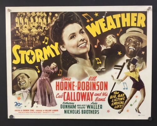 Stormy Weather Original Half Sheet Movie Poster Lena Horne   *Hollywood Posters*