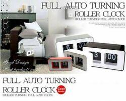 Auto Flip Clock Simple Retro Vintage Clock Desk Table File Down Page Clock US