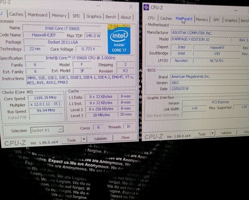 intel core i7 5960x and Asus rampage v edition 10 x99 motherboard | in  Sheffield, South Yorkshire | Gumtree