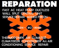 REPARATION AIR CONDITIONER AIR CLIMATISÉ CLIMATISEUR THERMOPOMPE